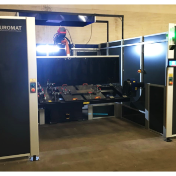 Installed robotic welding cell