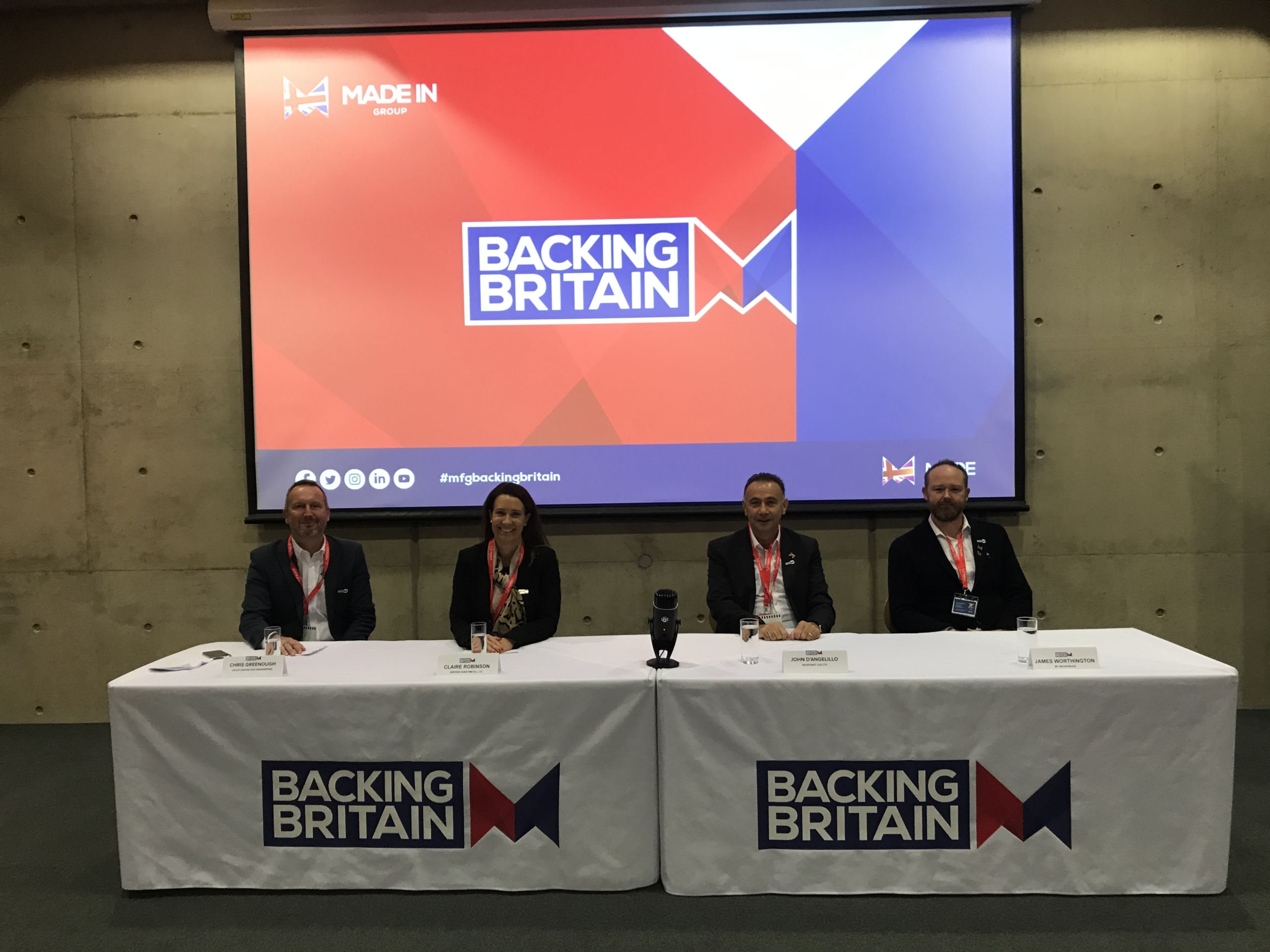The panelists at the launch of Back Britain