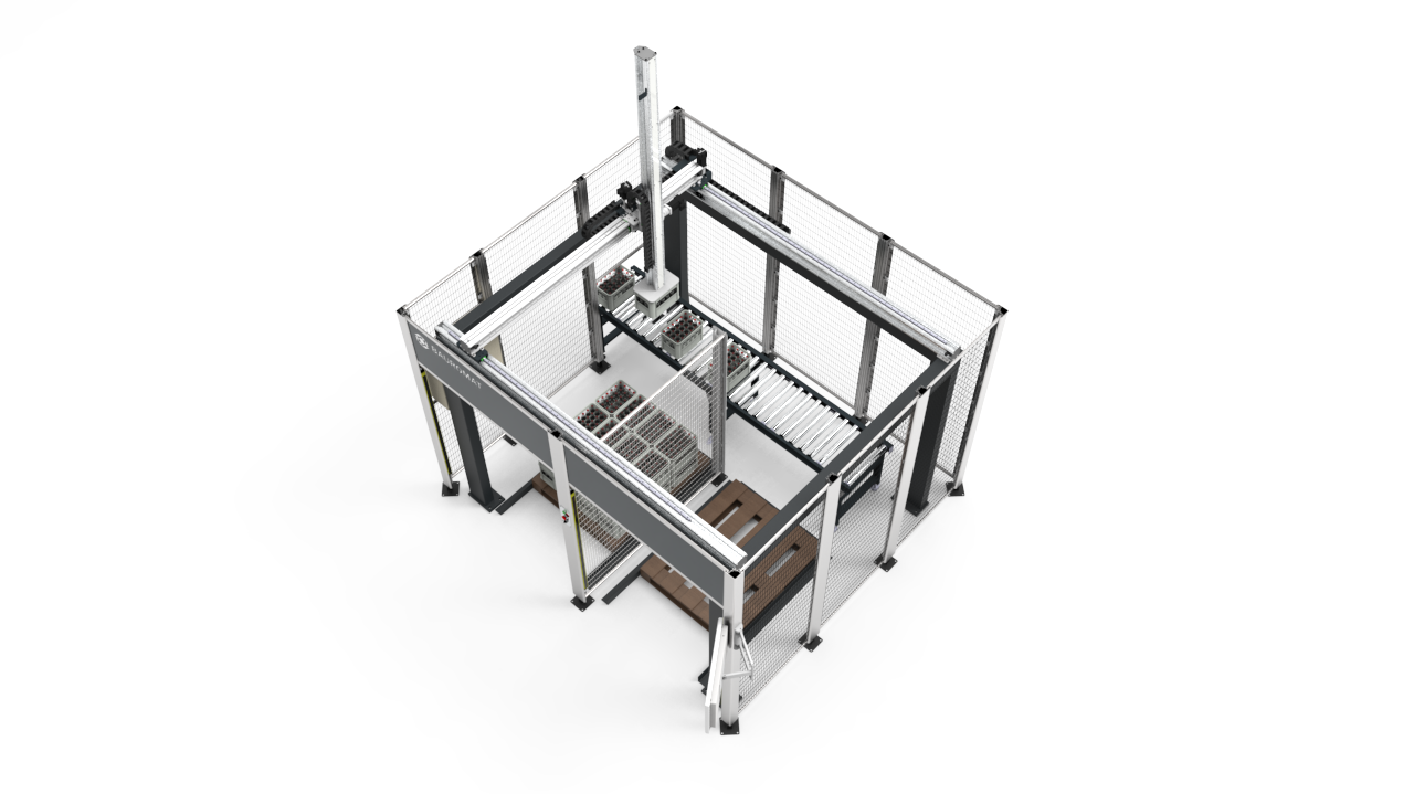 birds eye view of automated packing solution