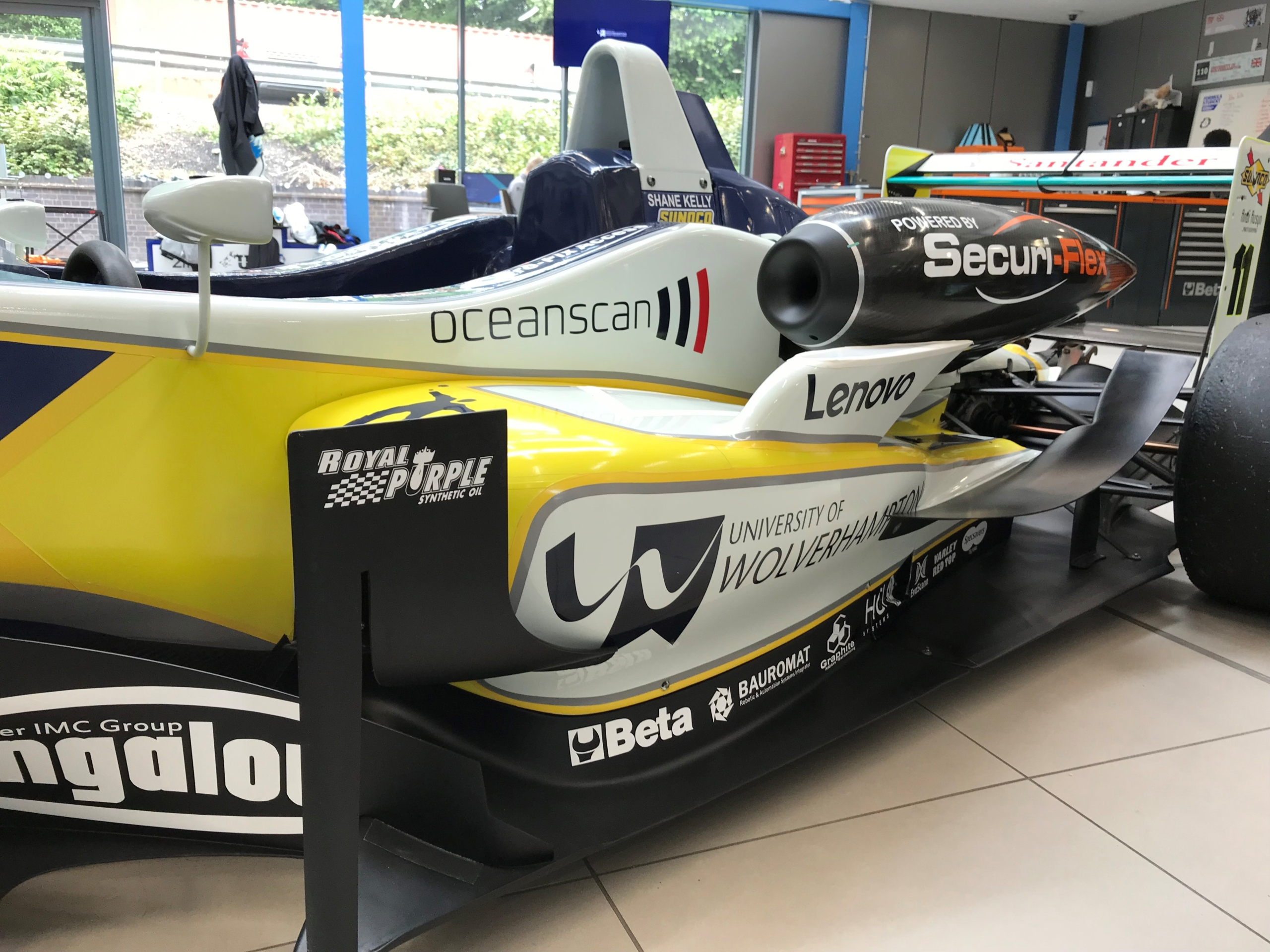 The Bauromat logo on the UWR F3 Cup car